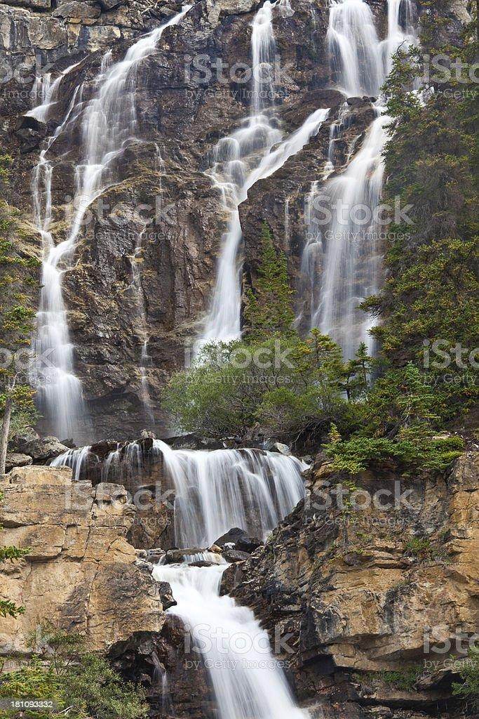 Beautiful Waterfall in the Rockies stock photo