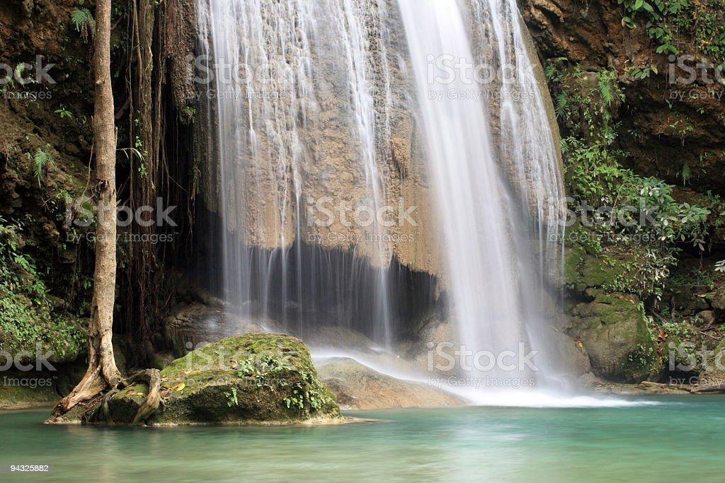 Beautiful waterfall. royalty-free stock photo