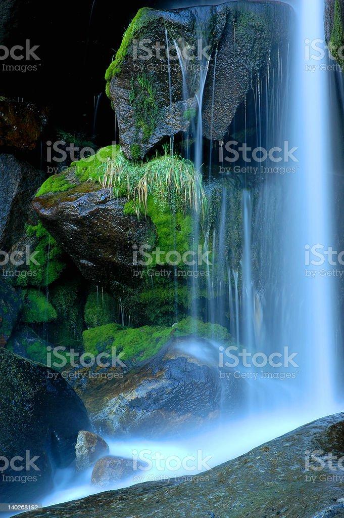 Beautiful waterfall scene royalty-free stock photo