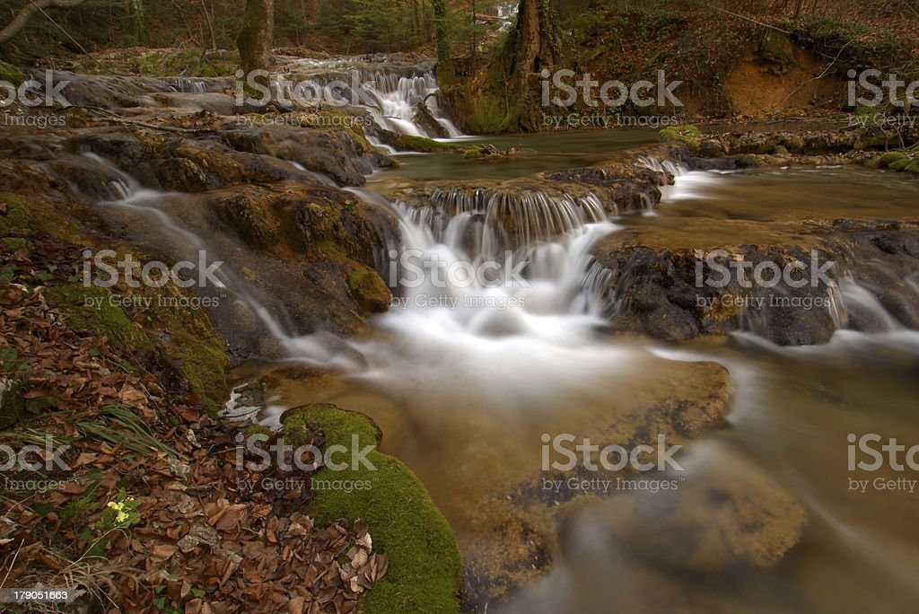 Beautiful waterfalls in the forest royalty-free stock photo