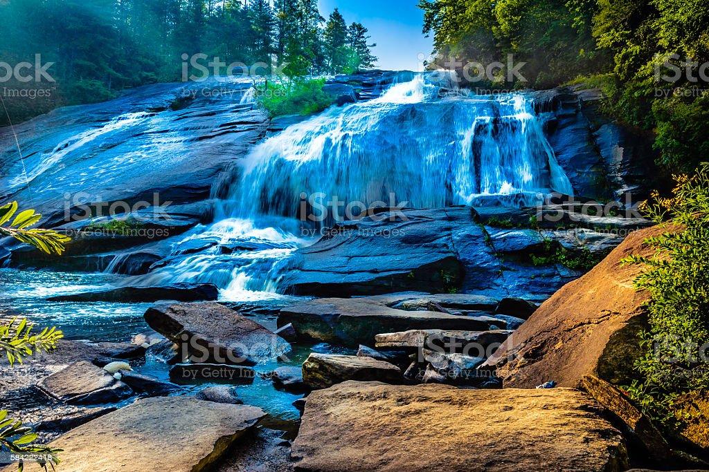 Beautiful waters of High Falls at Dupont stock photo
