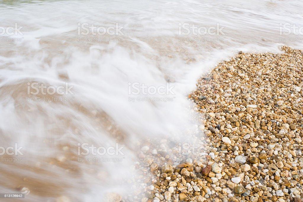 Beautiful waves shot with long exposure stock photo