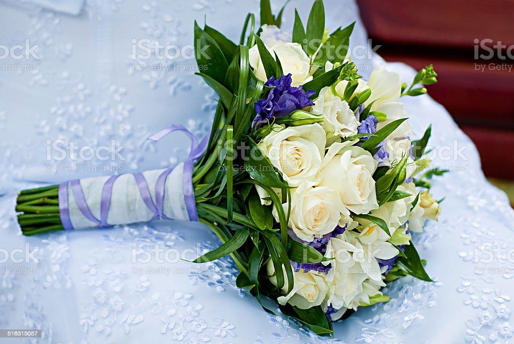 Beau bouquet de mariée. photo libre de droits