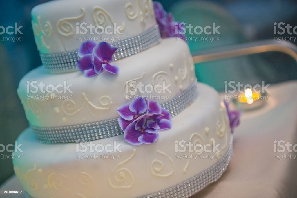 Beautiful wedding cake stock photo