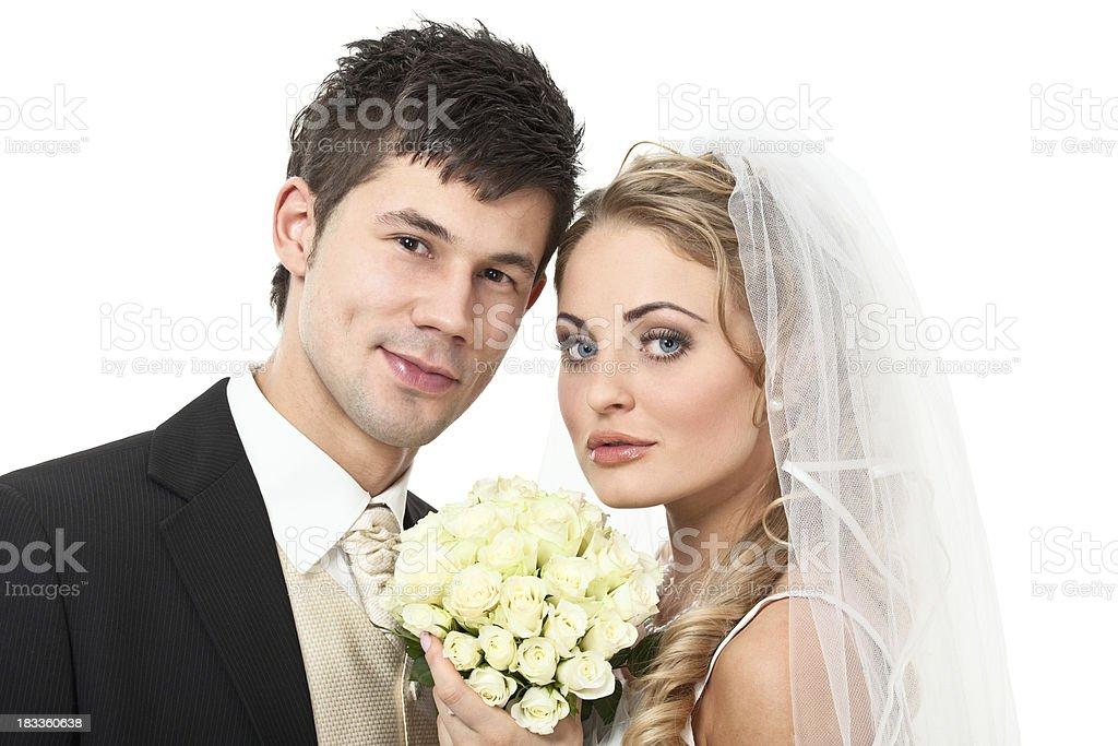 beautiful wedding couple royalty-free stock photo
