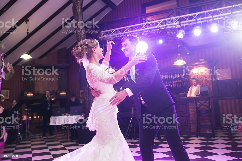 Beautiful wedding dance stock photo