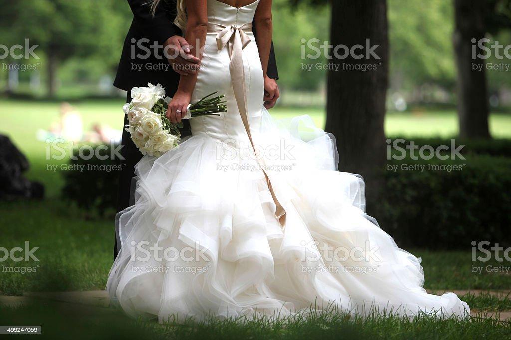 Beautiful Wedding Dress stock photo