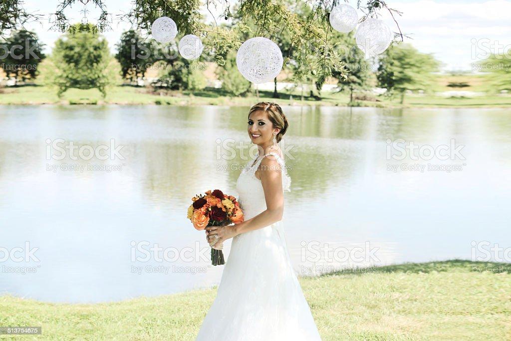 Beautiful Wedding Portraits stock photo