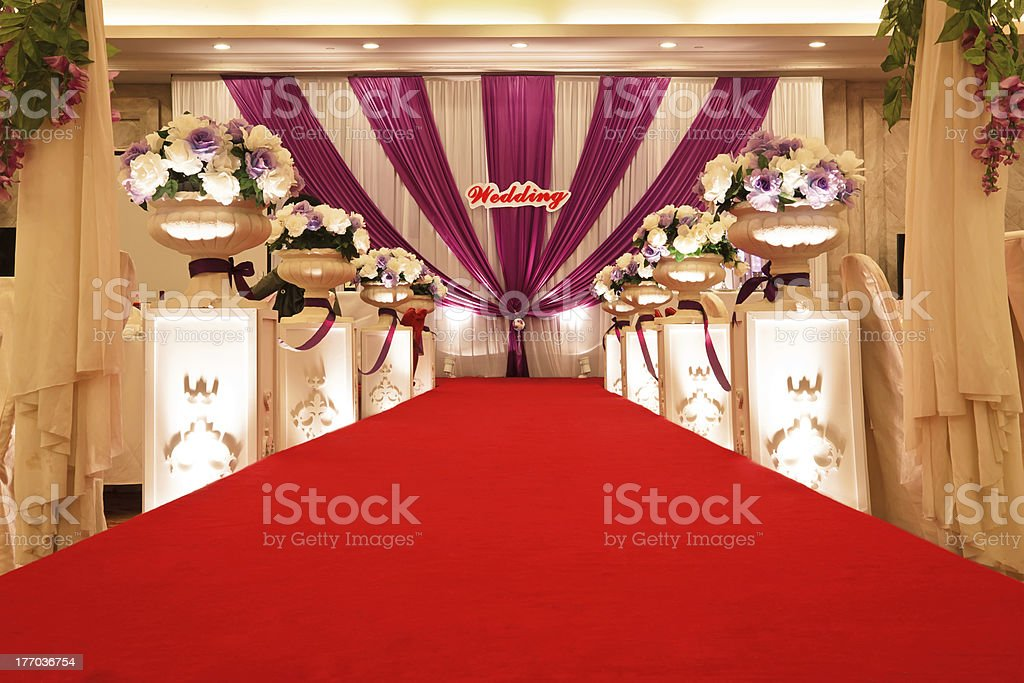 Beautiful wedding scene layout royalty-free stock photo