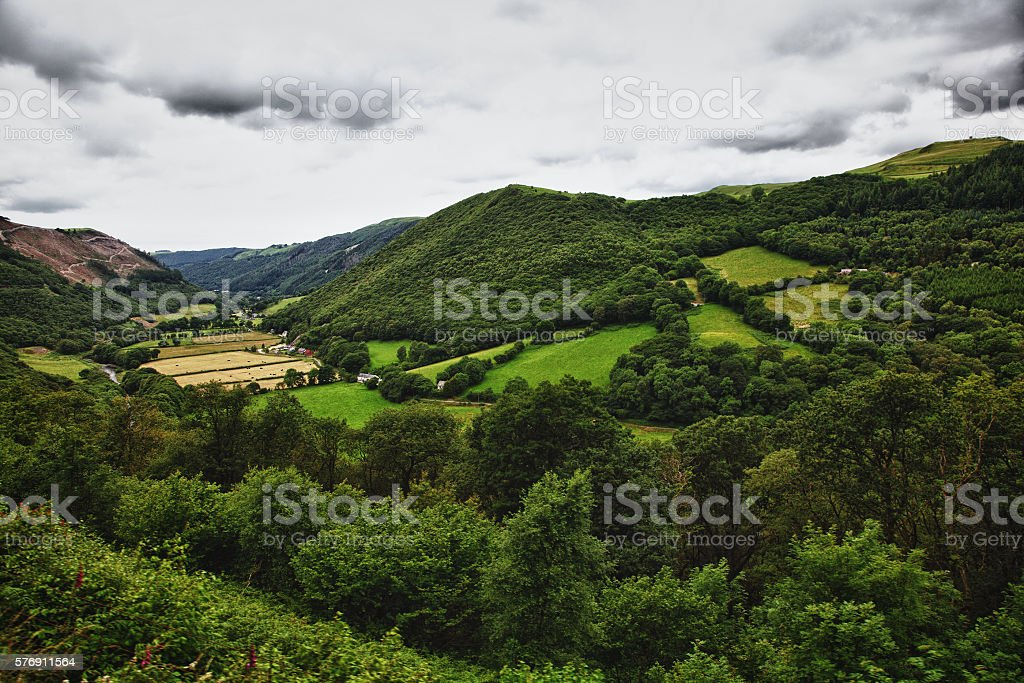beautiful Welsh countryside stock photo