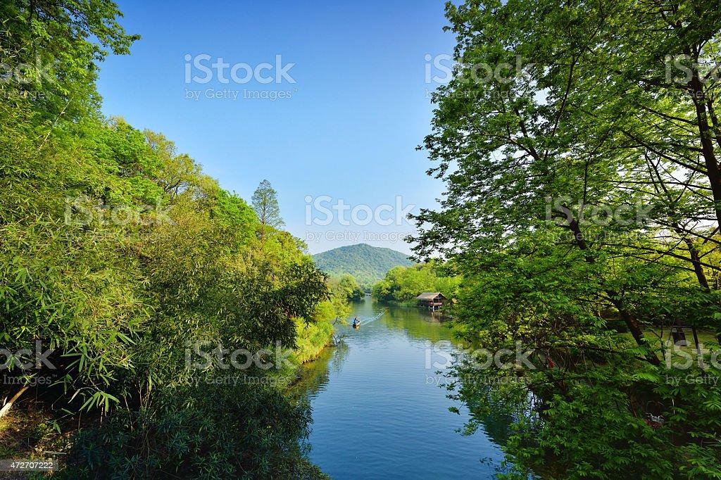 Beautiful West-lake stock photo