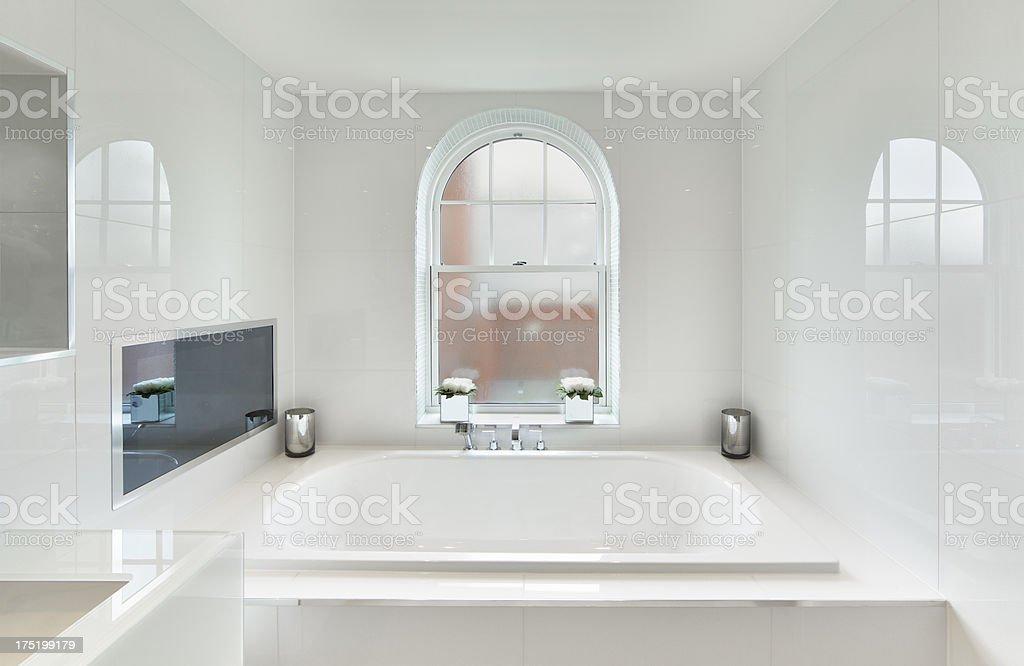 beautiful white bathroom royalty-free stock photo