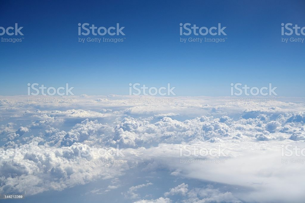 beautiful white clouds royalty-free stock photo