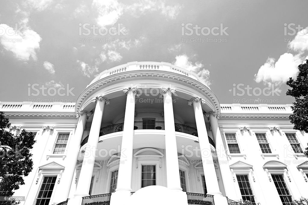 Beautiful White House USA stock photo