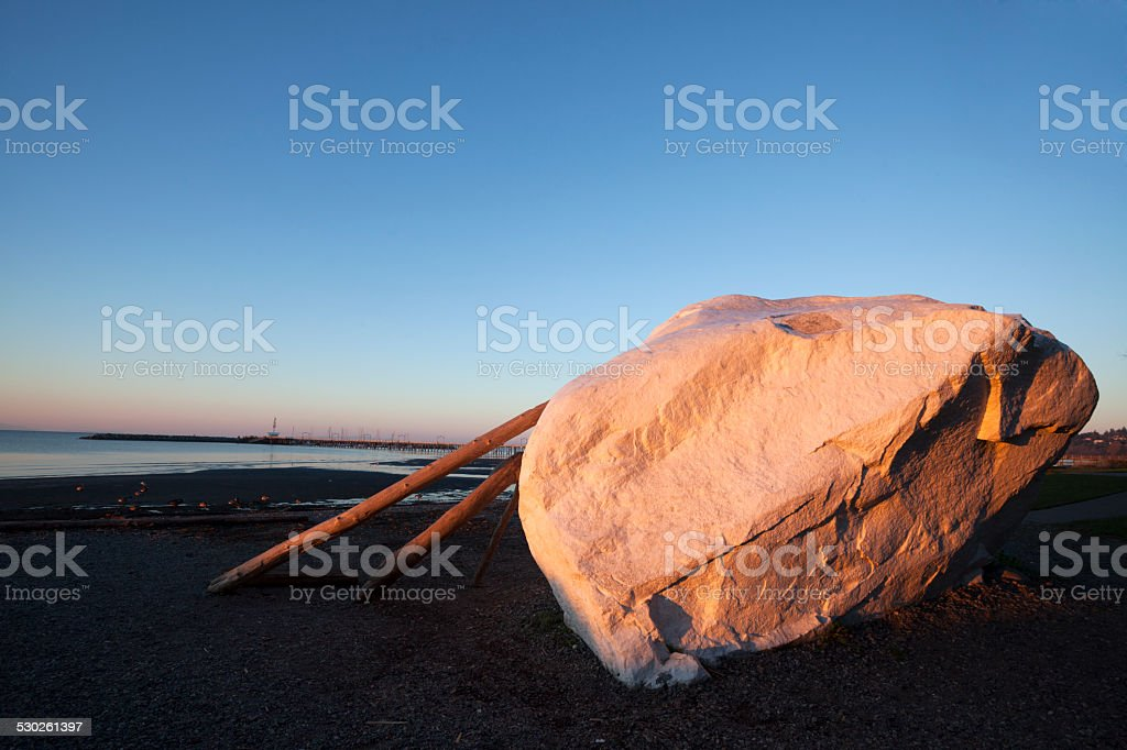 Beautiful White Rock British Columbia In The Morning stock photo