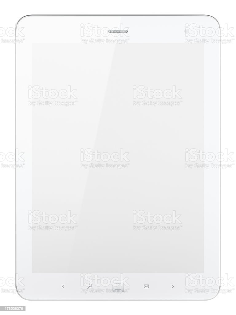 Beautiful white tablet computer pc royalty-free stock photo