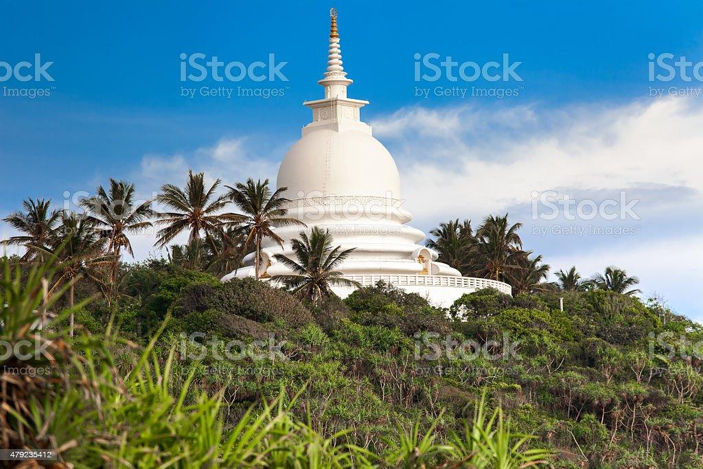 Beautiful white temple stock photo