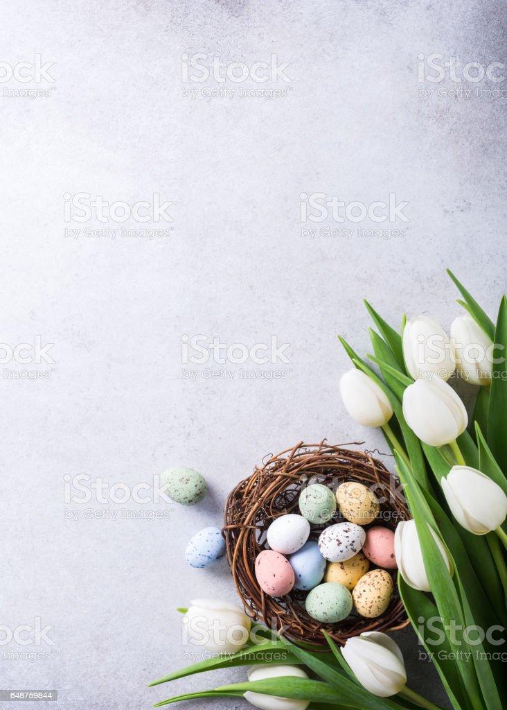 Beautiful white tulips stock photo
