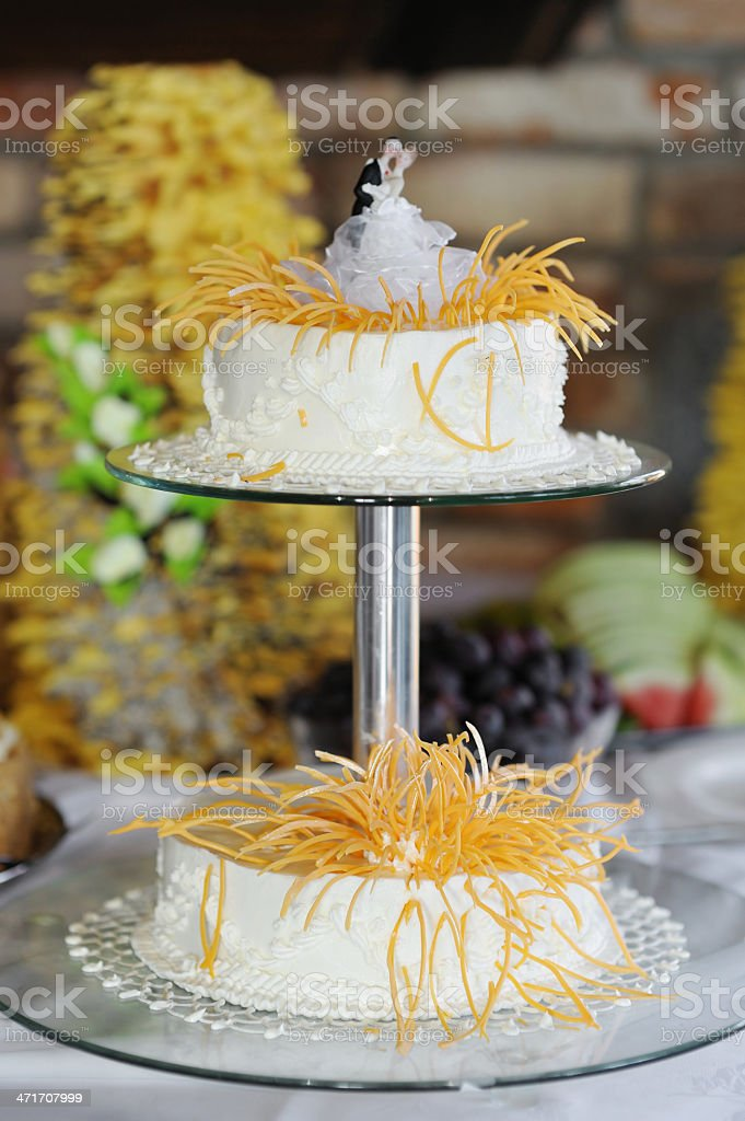 Beautiful white wedding cake royalty-free stock photo