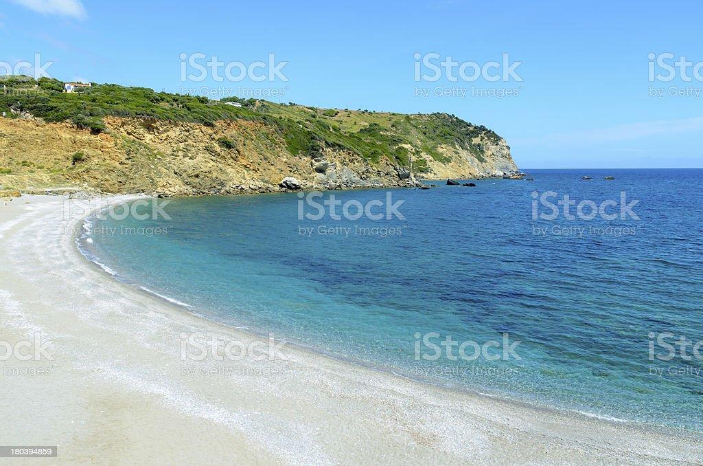 Beautiful wild beach royalty-free stock photo