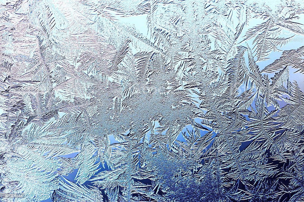 beautiful winter background with frost stock photo