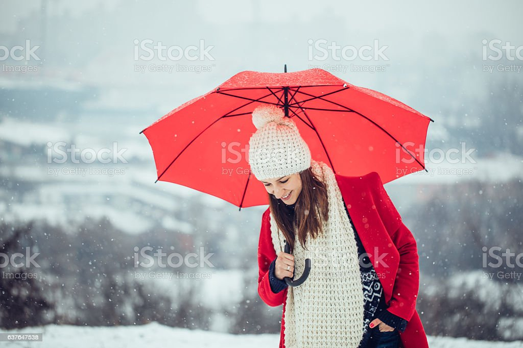 Beautiful winter day outdoors stock photo