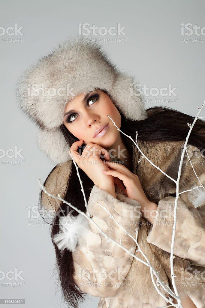 Beautiful winter girl royalty-free stock photo