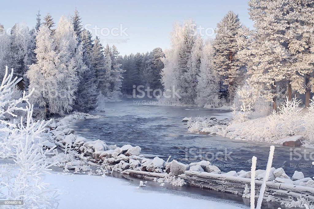Beautiful winter landscape royalty-free stock photo