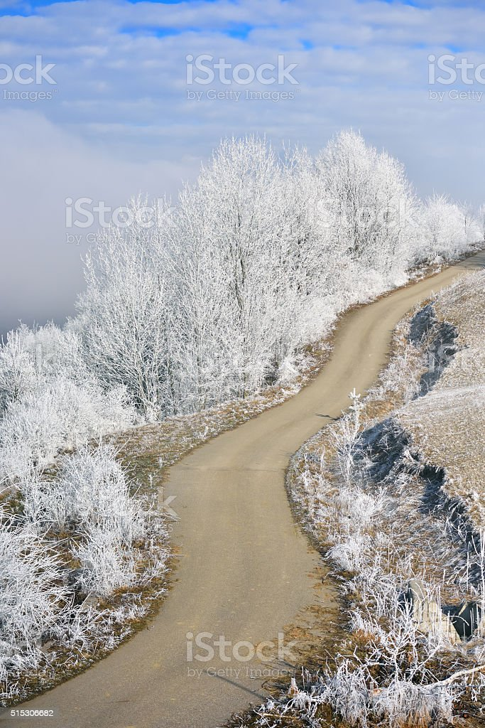 beautiful winter mountain landscape stock photo