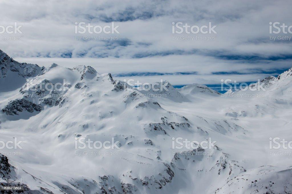Beautiful winter mountain landscape stock photo