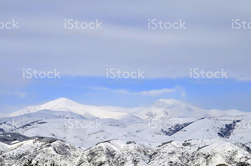 Beautiful winter scene royalty-free stock photo