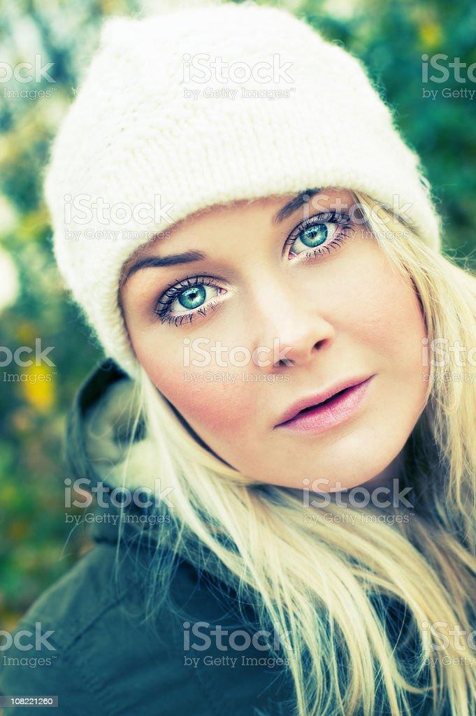 Beautiful winter/autumn portrait royalty-free stock photo