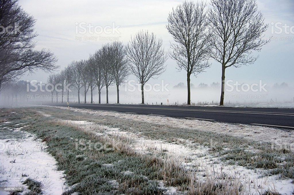 Beautiful wintermorning landscape stock photo