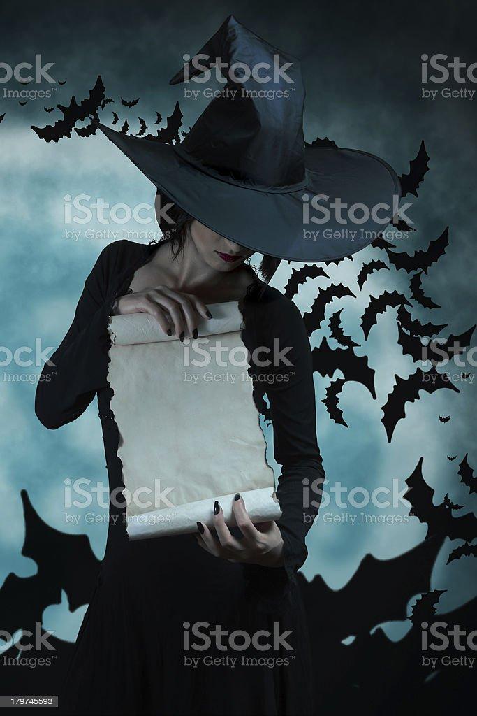 Beautiful witch royalty-free stock photo