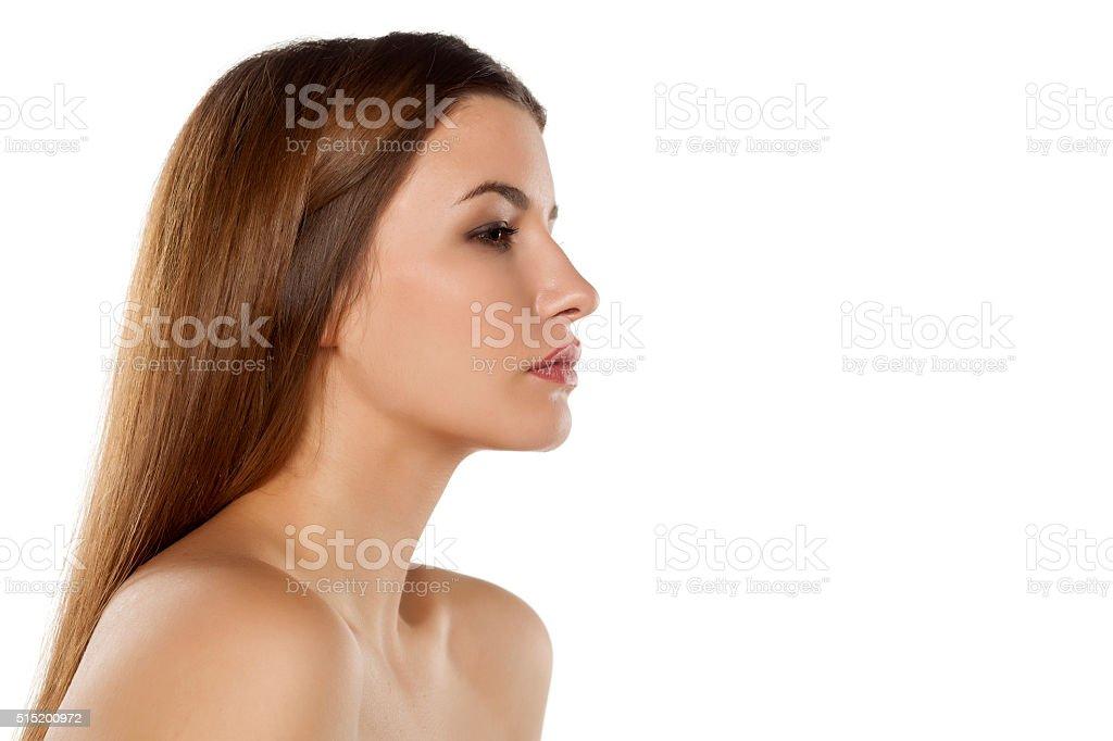 beautiful with long hair stock photo