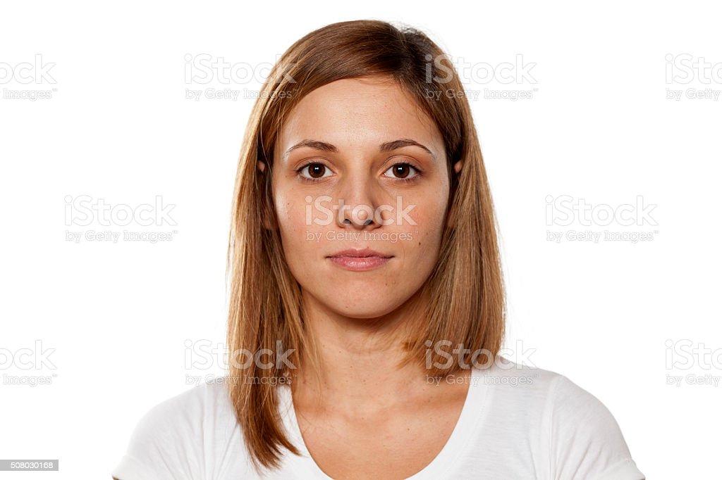 beautiful without makeup stock photo