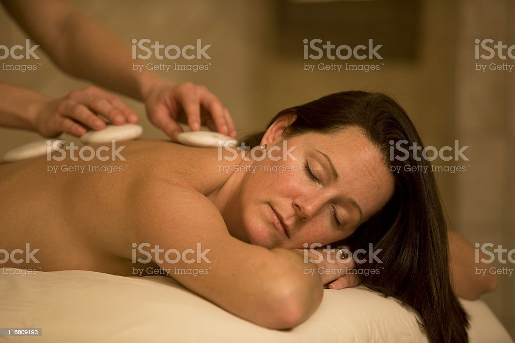 Beautiful Woman At A Spa royalty-free stock photo