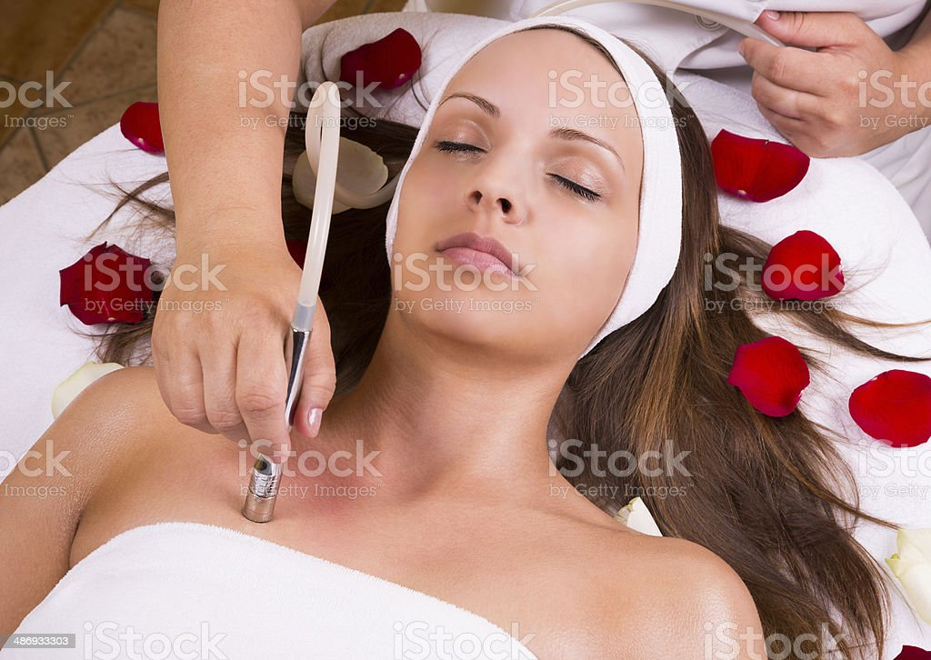 Beautiful woman at the beautician. royalty-free stock photo