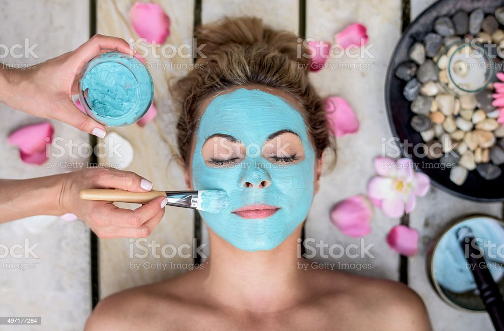 Beautiful woman at the spa stock photo