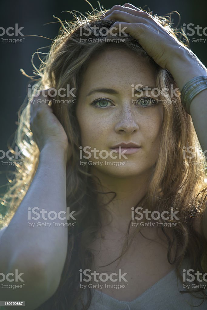 Beautiful Woman Backlit royalty-free stock photo