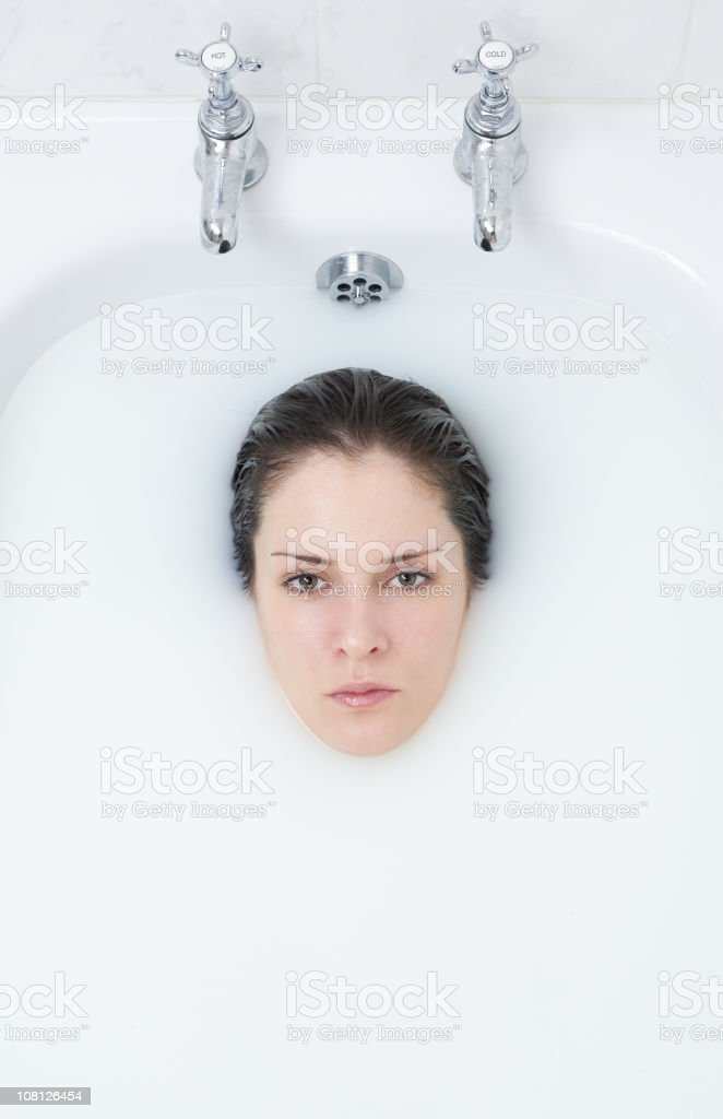 Beautiful Woman Bathing 2 stock photo