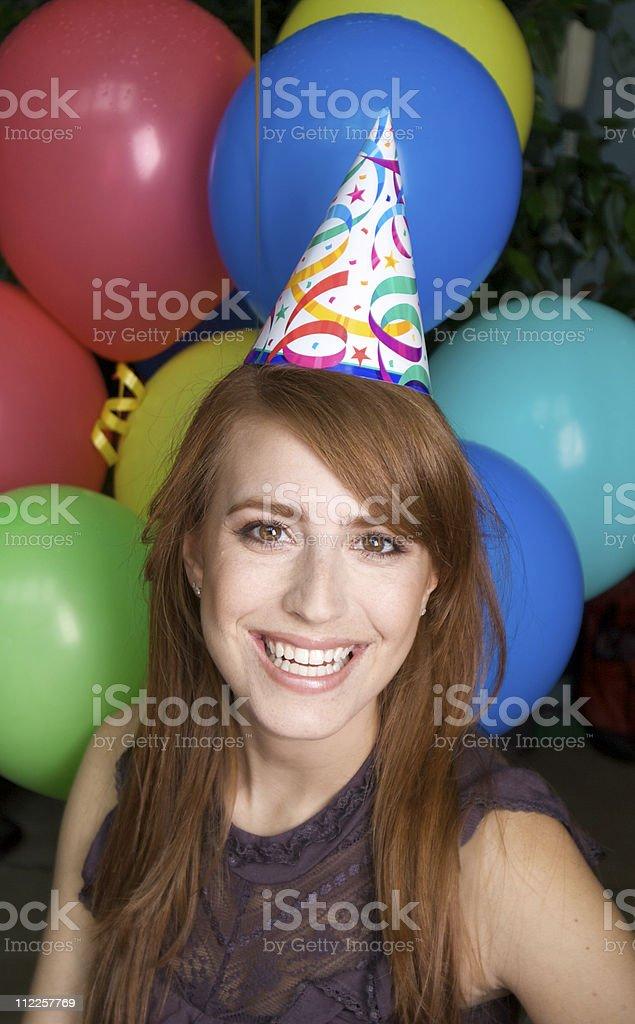 Beautiful Woman Celebrating her Birthday royalty-free stock photo