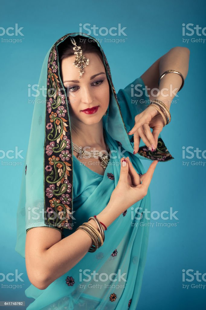 beautiful woman dancer stock photo