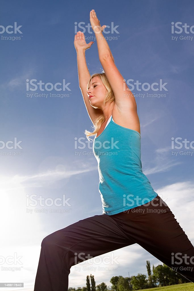 Beautiful Woman Doing Yoga royalty-free stock photo