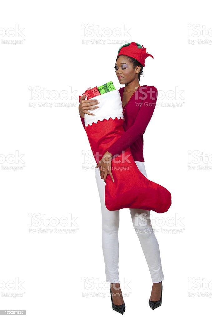 Beautiful woman elf royalty-free stock photo