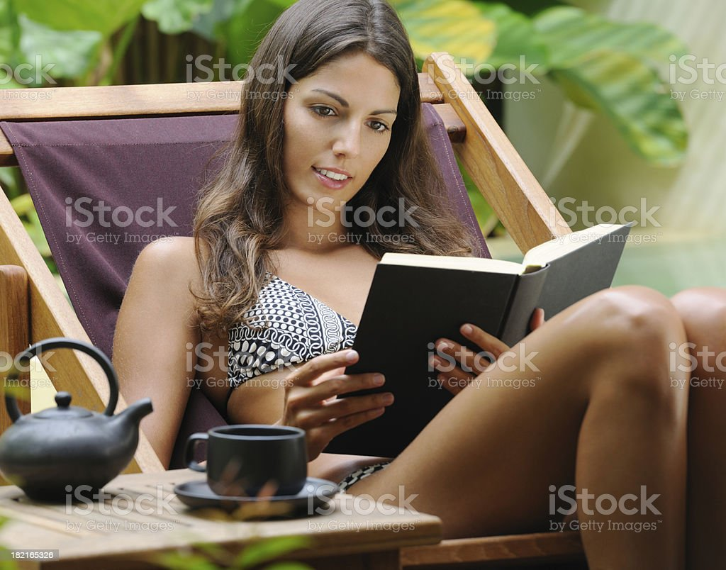 Beautiful Woman enjoying her Day Off (XXXL) royalty-free stock photo