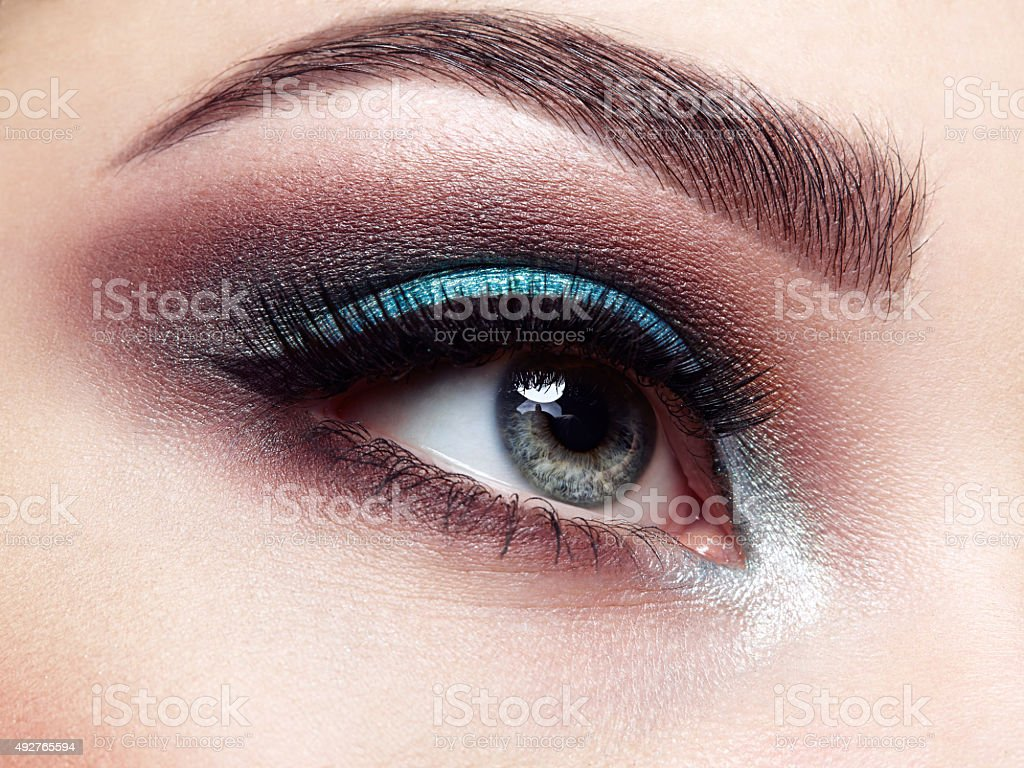 Beautiful woman eye stock photo