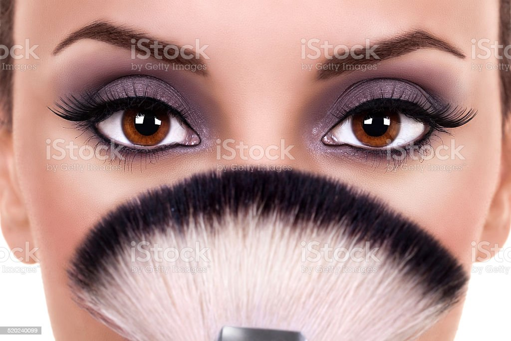 Beautiful Woman Eyes Makeup stock photo