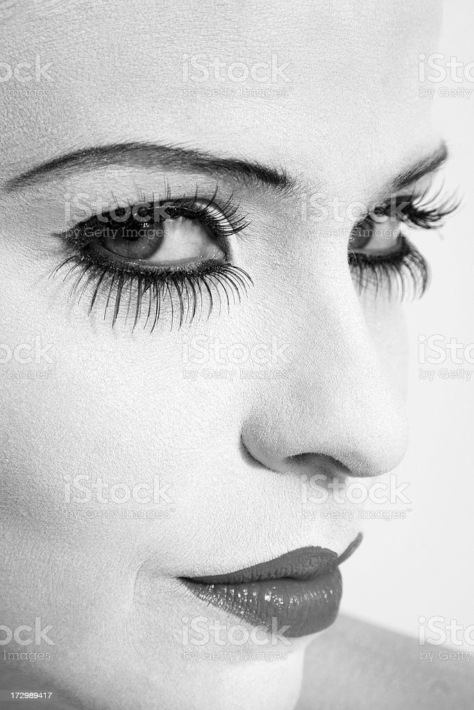 Hermosa mujer cara, concepto: De moda - foto de stock