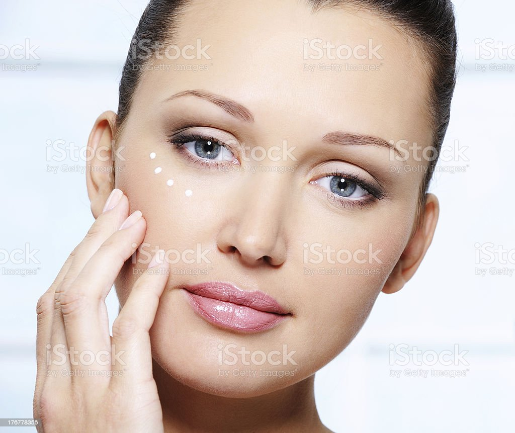 Beautiful woman face with healthy skin royalty-free stock photo